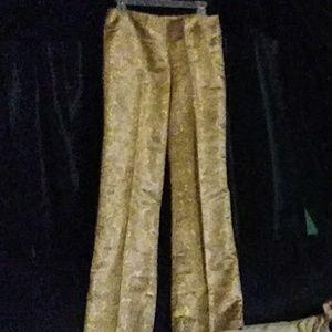 VINTAGE gold rose suit pant